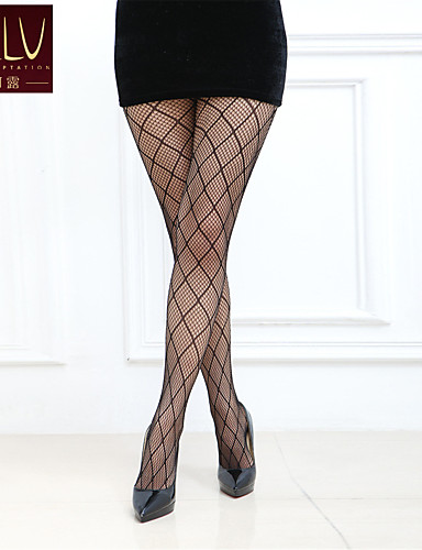Women's Medium Pantyhose-Geometric