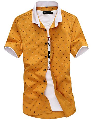 Men's Weekend Plus Size Cotton Slim Shirt Print