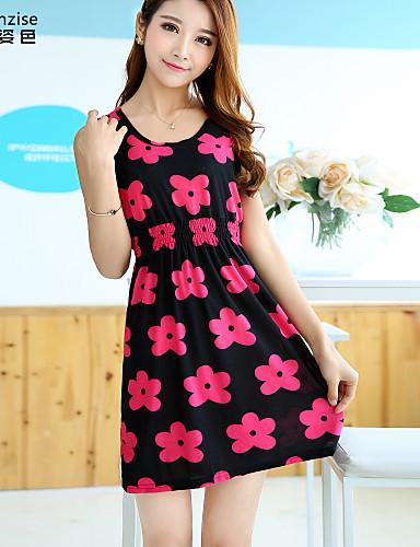 Damen A-Linie Kleid - Blume, Blumen