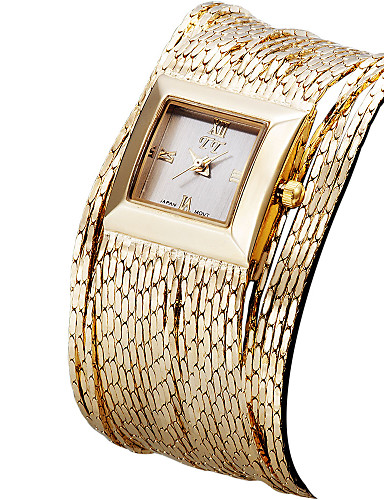 ASJ Women's Wrist Watch Japanese Water Resistant / Water Proof Band Vintage / Casual / Fashion Silver / Gold / Rose Gold / Stainless Steel / One Year / SSUO SR626SW