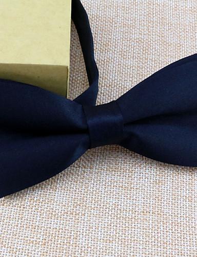 Men's Bow Tie,Vintage Work Solid All Seasons White Black Dark Blue Red Wine