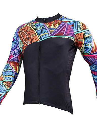 2682580a5 ILPALADINO Men s Long Sleeve Cycling Jersey - Black Bike Jersey Top  Breathable Quick Dry Ultraviolet Resistant Sports Winter Polyester 100%  Polyester ...