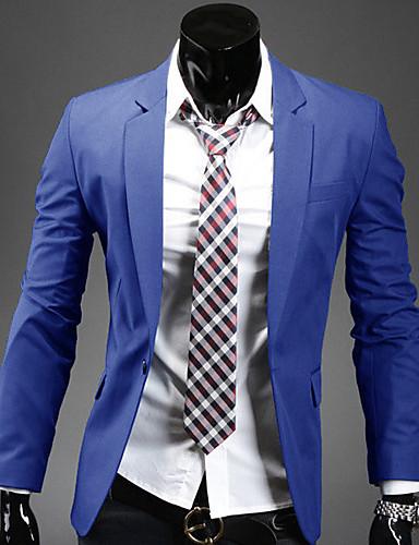 Erkek Polyester Solid Çalışma Normal Blazer