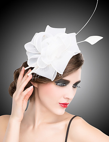 billige Hatte & Imponeringer-Krystall / Tøy / organza Kentucky Derby Hat / Tiaras / fascinators med 1 Bryllup / Spesiell Leilighet / Fest / aften Hodeplagg / blomster