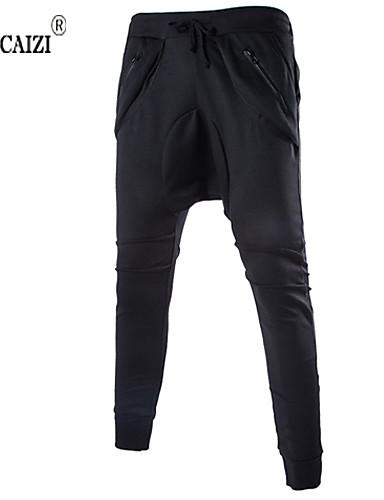 Męskie Szczupła Spodnie dresowe Spodnie Mieszanka bawełny Nadruk Pled