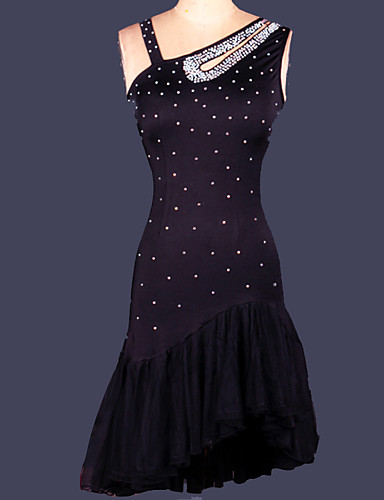 Shall We Latin Dance Dresses Women Training Spandex 1 Piece Dress