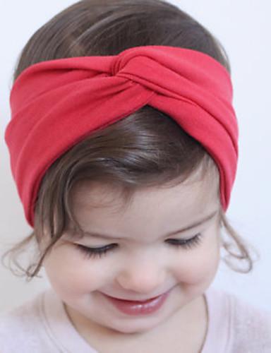 Mädchen Haarzubehör Ganzjährig Baumwolle Stirnbänder - Fuchsia Rot Blau Rosa Königsblau
