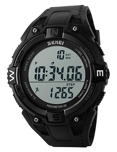 b13bd70128b SKMEI Homens Relógio Esportivo Relógio de Pulso Relogio digital Digital  Borracha Preta 30 m Impermeável Alarme Calendário Digital Amuleto Clássico  - Preto ...