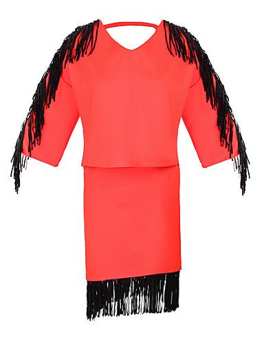 Mujer Moderno Algodón Corte Ancho Vestido - Estilo moderno, Color sólido