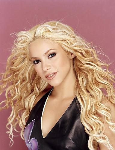 """billige Skjønnhet og hår-Ekte hår Blonde Forside Parykk stil Brasiliansk hår Bølget Parykk 120% Hair Tetthet Ombre-hår Naturlig hårlinje Afroamerikansk parykk 100 % håndknyttet Dame 24"""" Human Hair Capless Parykker"""