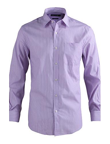 JamesEarl Masculino Colarinho de Camisa Manga Comprida Shirt & Blusa Roxa - MC1ZC001233
