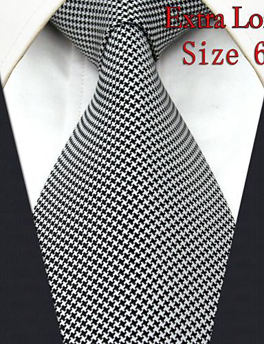 Men's Tie Checked White 100% Silk New Fashion Casual