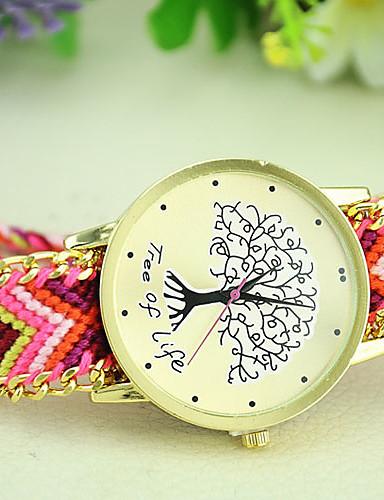 בגדי ריקוד נשים קווארץ שעון יד מכירה חמה בד להקה בוהמי אופנתי צבעוני