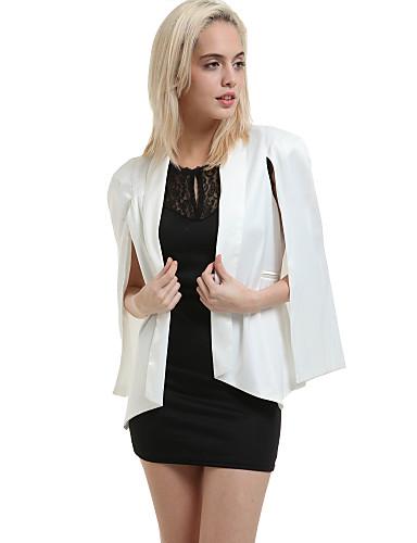Women's New Unique Design Cowl Split Sleeve Solid Loose Blazer Plus Size