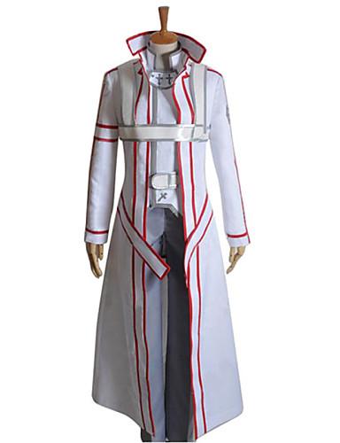 levne Cosplay a kostýmy-Inspirovaný SAO Alicization Kirito Anime Cosplay kostýmy japonština Cosplay šaty Patchwork Dlouhý rukáv Kabát / Kalhoty / Rukavice Pro Pánské / Dámské / Přehoz