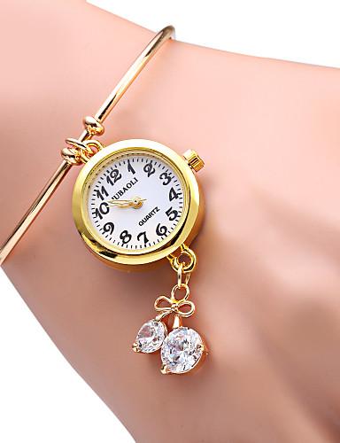 JUBAOLI Mulheres Relógio de Moda Bracele Relógio Quartzo Lega Banda Brilhante Heart Shape Dourada Dourado