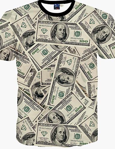 Majica s rukavima Muške Sport Ležerno/za svaki dan Print-Kratkih rukava Pamuk