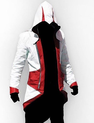 cheap Videogame Cosplay-Inspired by Assassin Cosplay Video Game Cosplay Costumes Cosplay Suits Patchwork Long Sleeve Coat Costumes
