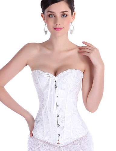 4d997221299 Women s Hook   Eye Overbust Corset   Plus Size - Jacquard   Sexy