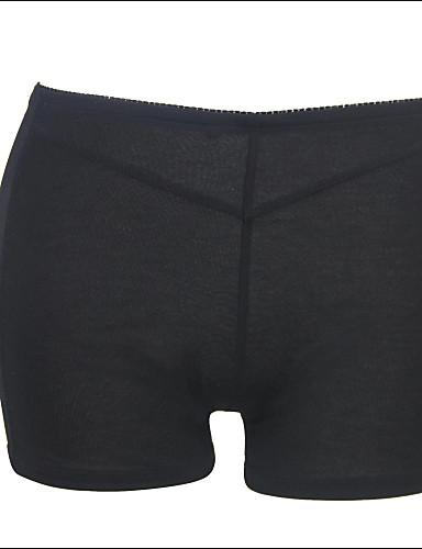 Femme Couleur Pleine Sous-vêtements Ultra Sexy Sous-vêtements Moulants Nylon Spandex Noir