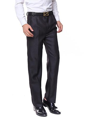お買い得  メンズパンツ&ショーツ-男性用 ベーシック 日常 フォーマル ワーク スーツ / ストレート / スリム パンツ - ソリッド コットン ダークグレイ ライトグレー 36 38 35