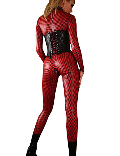 cheap Sexy Costumes-Women's Sexy Uniforms Sex Catsuit Solid Colored Leotard / Onesie