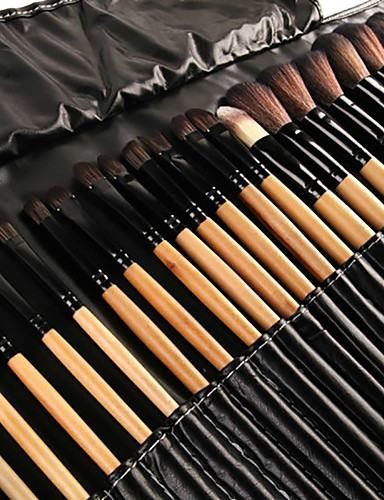 cheap Makeup Brushes-32pcs  Professional Makeup Brush Set / powder foundation concealer blush brush shadow eyeliner lip brow lashes brush  cosmetic brushes Synthetic Hair / Artificial Fibre Brush  / Full Coverage Wooden