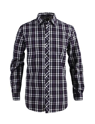 JamesEarl Masculino Colarinho de Camisa Manga Comprida Shirt & Blusa Cinzento - MB1XC000635