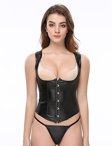 9487e18cae Women s Lace Up Plus Size Overbust Corset-Solid