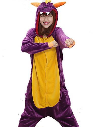 Adults  Kigurumi Pajamas Dragon Onesie Pajamas Coral fleece Cosplay For Men  and Women Animal Sleepwear Cartoon Festival   Holiday Costumes bf5fa78f3ccd8