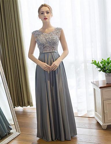 Eng anliegend Boden-Länge Spitze Satin Ball Formeller Abend Kleid mit Spitze durch Embroidered bridal