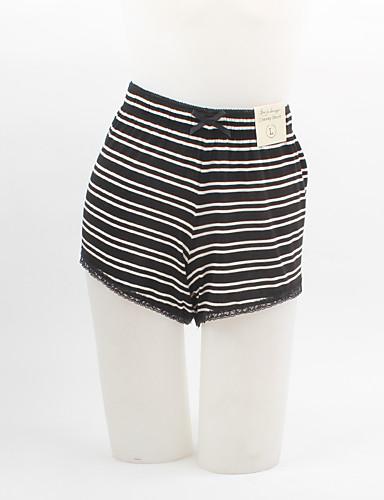 Dame Store størrelser Jeans Bukser Stripet