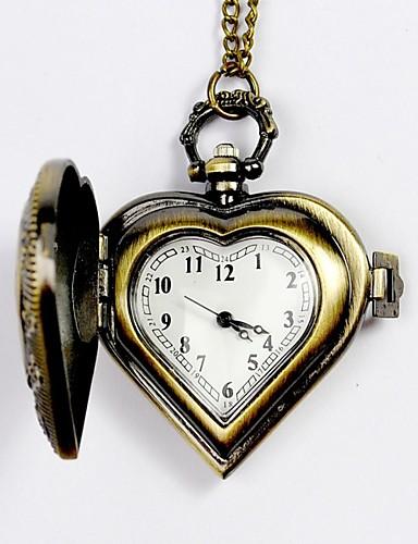 Homens Relógio de Bolso Gravação Oca Lega Banda Amuleto Prata / Amarelo