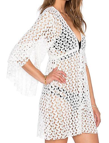 Damen Einteiler / Strandkleidung - Einfarbig Einzelteil Spitze Halfter