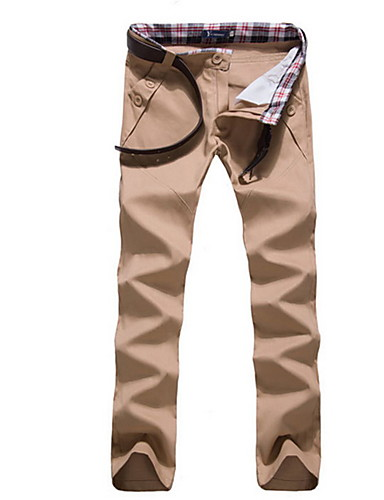 Férfi Pamut Pamutszövet nadrág Nadrág Egyszínű