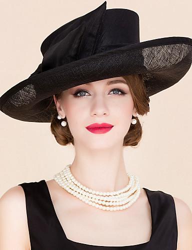 billige Hatte & Imponeringer-Linfrø / Tøy Kentucky Derby Hat / fascinators / Hatter med 1 Bryllup / Spesiell Leilighet / Avslappet Hodeplagg