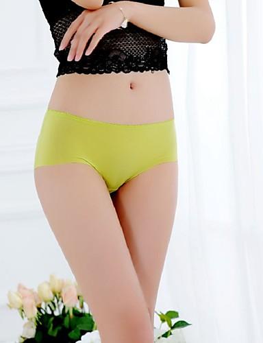 אישה פוש אפ אחיד-מכנסונים ללא תפרים(כותנה / משי קרח)