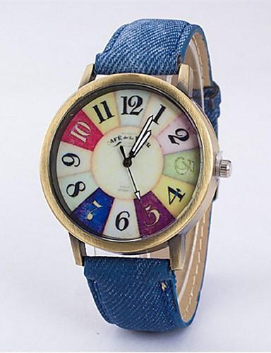 Casal Relógio Elegante Relógio de Moda Quartzo Relógio Casual Tecido Banda Vintage Preta Branco Azul Vermelho RoseBranco Preto Rosa