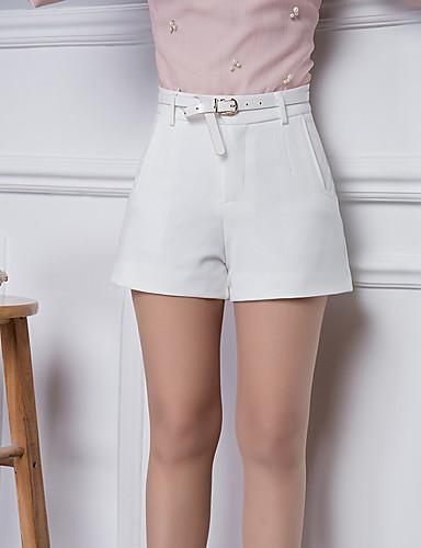 Mulheres Tamanhos Grandes Cintura Alta Jeans Calças - Sólido