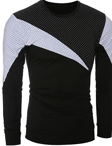 Herren Patchwork Sport Formal Lässig/Alltäglich Arbeit T-shirt Kurzarm Baumwolle