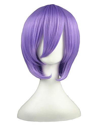 voordelige Cosplay Pruiken-Suzumiya Haruhi Hiiragi Tsukasa Cosplaypruiken Heren Dames 14 inch(es) Hittebestendige vezel Paars Anime