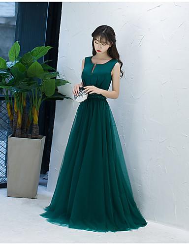 Vestido de baile entalhado varredura / pincel vestido de vestido de tul com arco