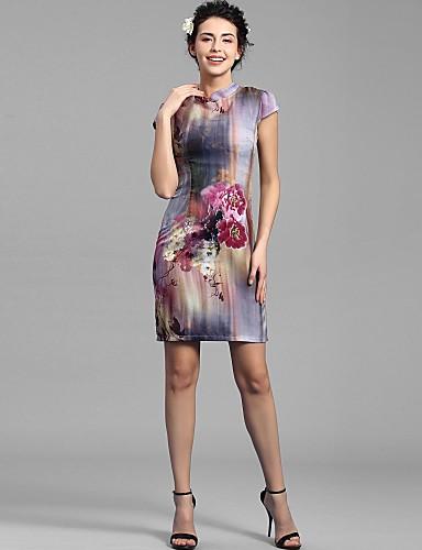 Baoyan® Femme Mao Sans Manches Au dessus des genoux Robes-150298