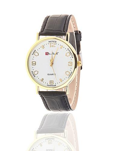Mulheres Relógio de Moda Quartzo Impermeável Relógio Casual PU Banda Preta Branco Azul Marrom