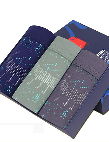 SHINO® Puuvilla / Bambuhiilikuitu Retroshortsit 4 / laatikko-F006-A