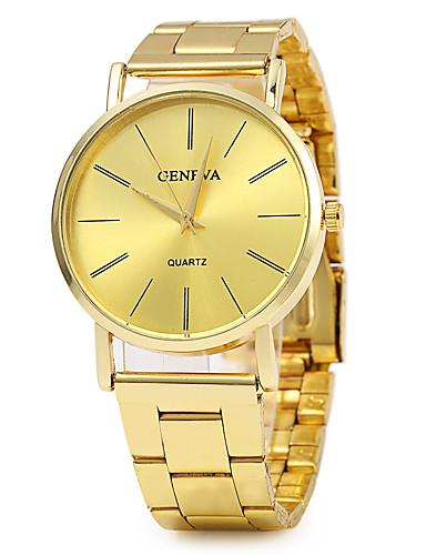Geneva Mulheres Relógio de Pulso Venda imperdível / / Aço Inoxidável Banda Vintage / Fashion / Relógio Elegante Dourada / Um ano / SSUO LR626