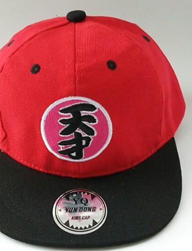 כובעים ומצחיות כל העונות כותנה בנות בנים - שחור אדום כחול
