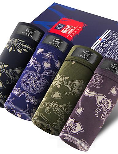 SHINO® Baumwolle / Bambous Carbon Faser Kurze Boxershorts 4 (4 Pcs/Box)-F015-A