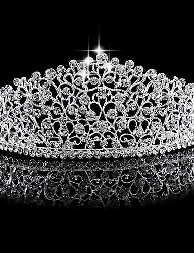 voordelige Koninklijke trouwjurken-Strass / Legering tiaras met 1 Bruiloft Helm