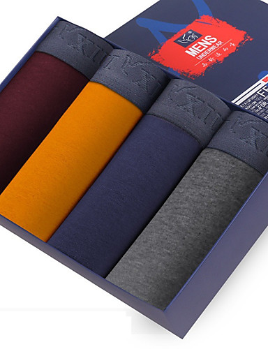 SHINO® Bomull / Bambus Karbon Fiber Boksere 4 / boks-F005-I